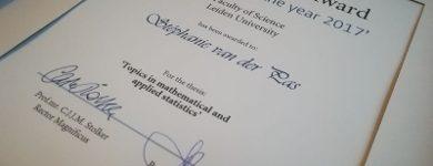 Stéphanie van der Pas wins best dissertation prize